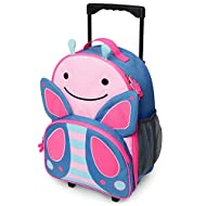 Skip Hop Kids Luggage with Wheels, Zoo, Butterfly