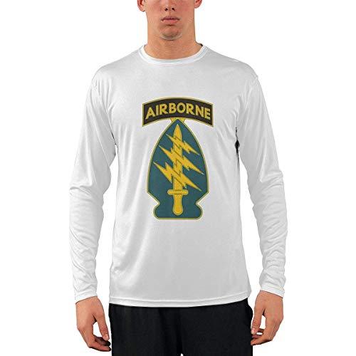 Camiseta clásica de Manga Larga para Hombre, Army Special