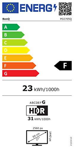 BenQ PD2705Q 68,58cm 27Zoll LCD-Display IPS Panel 2560×1440 WQHD HDMI DP in/out USB-Typ-C schwarz - 15