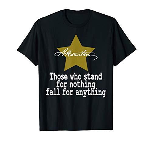 Alexander Hamilton Quote Shirt Gold T-Shirt A. Ham Gift T-Shirt