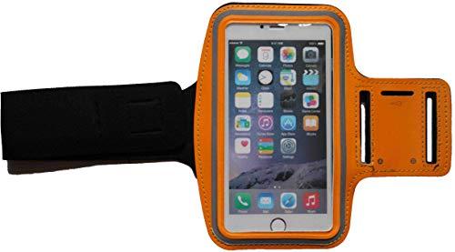 Sport-Armband Schweißfest Schutztasche für Sony Xperia Z3 Fitness Handyhülle Armtasche mit Kopfhöreranschluss, Laufen, BL Orange