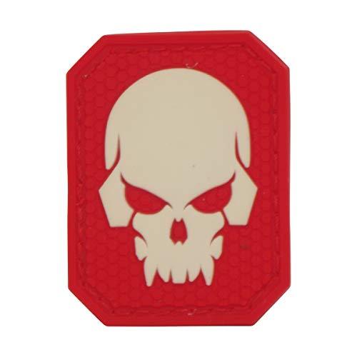 Cobra Tactical Solutions Fluo Skull 3D Totenkopf Military PVC Patch mit Klettverschluss für Airsoft Paintball Cosplay für Taktische Kleidung Rucksack