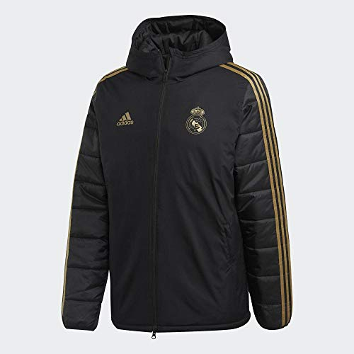 adidas Real Madrid Winter J, Giacca Uomo, Nero/Oro (Black/Dark Football Gold), XL