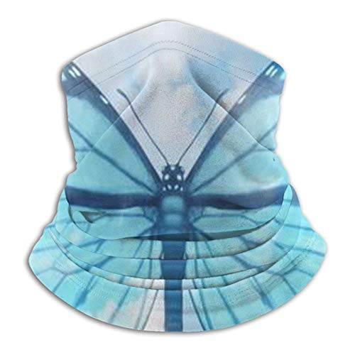 QEEOFKING Beautiful blue butterfly Bandanas Face Mask Multifunction Neck Gaiter Washable Face Covering Dust Mask for Outdoors Multifunctional Headwear Seamless Breathable