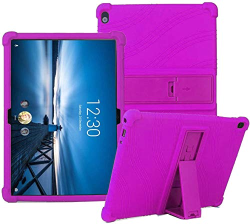 YGoal Silicone Case for LENOVO Tab P10/M10 - Light Weight Kids Friendly Soft Shock Proof Protective Cover for LENOVO Tab P10/M10, Purple