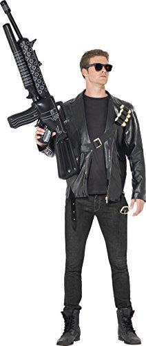Smiffys 38224L - Terminator-Kostüm mit Jacke Patronengurt und Gläser