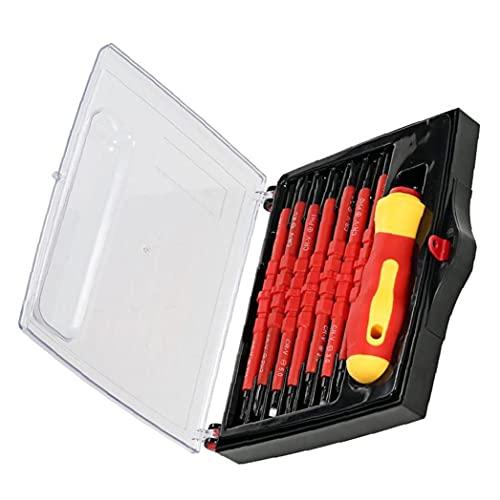 Conjuntos de aislamiento del kit del destornillador Phillips ranurados intercambiables bits 7-en-1 Herramienta de reparación del electricista de Industria