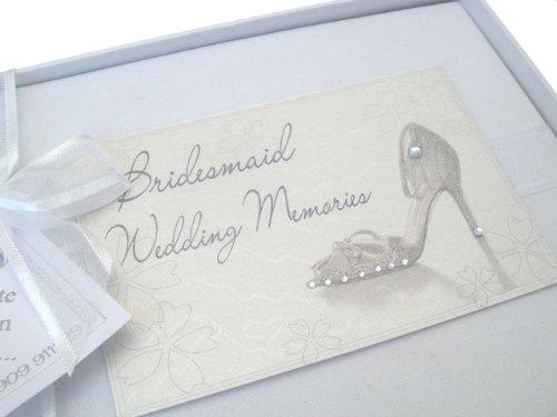White Cotton Cards Petit album souvenir Bridesmaid Escarpin (Import Royaume Uni)