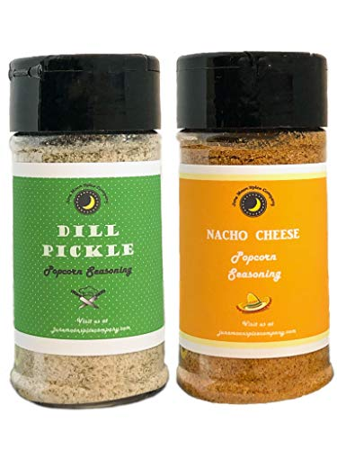Review Of Premium | POPCORN SEASONING Variety 2 Pack | Dill Pickle Popcorn Seasoning | Nacho Cheese ...