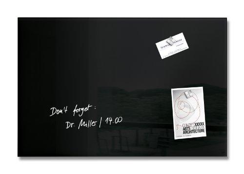Sigel GL120 - Pizarra de cristal magnética, 60 x 40 cm, negro