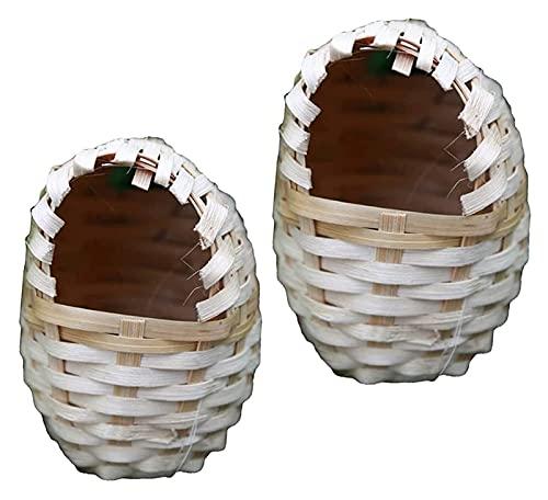 EURYTKS Casa Nido, Forma de Huevo, bambú Tejido a Mano, Jaula de Nido de pájaro, casa, Cueva de cría para incubar