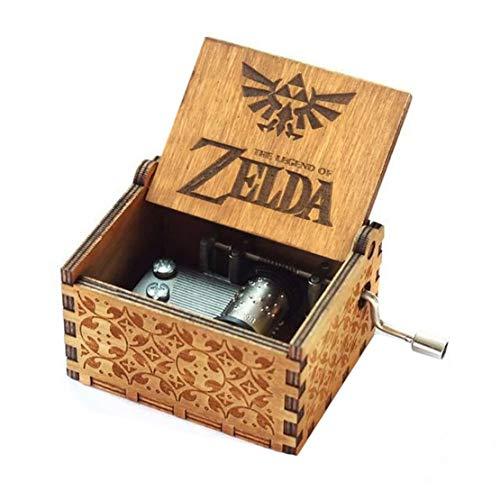Spieluhr Zelda Music Box 18 Note Antique Carved Musical Box Best Gift for Kids, Friends (2-Wood)
