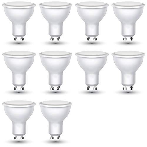 S-D SHOP - V-TAC - 10 PEZZI - LAMPADA LED - FARETTO INCASSO VT-2779 GU10 DA 7W COB SPOTLIGHT (FREDDA)