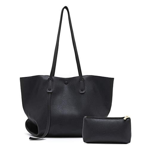 Jo&Bombara Women Tote Bag Fashion Shoulder Bags Soft PU Leather Designer Lightweight Purses Big Capacity handbags