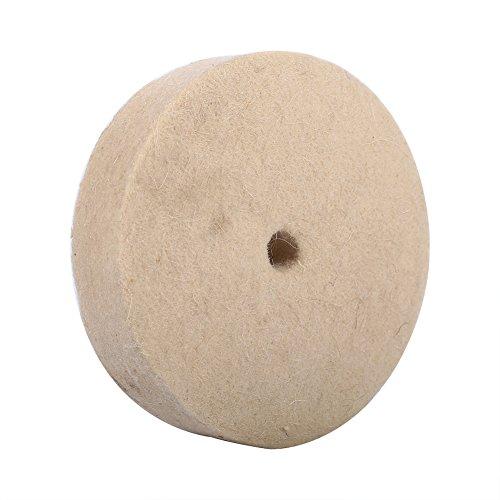 4 Stück Schleifbock Filzscheibe Polieren Wolle Polieren Polierscheibe Schleifen Runde Rad Soft Filz Polierer Pad 100x25mm Beige