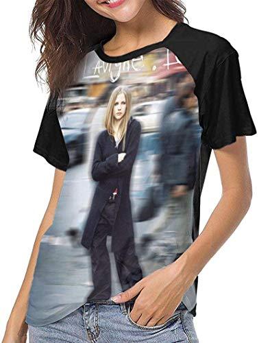 WFYY Lady Baseball T-Shirts Avril Lavigne Cute Tees
