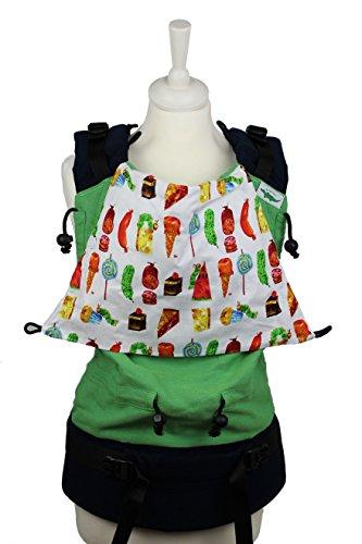 Buzzidil Kleine Raupe - mitwachsende Tragehilfe für Babys und Toddler - Größe XL von 8-48 Monaten | Bauchtrage, Rückentrage & Hüftsitz | Fullbuckle Babytrage mit Schließen ohne Binden