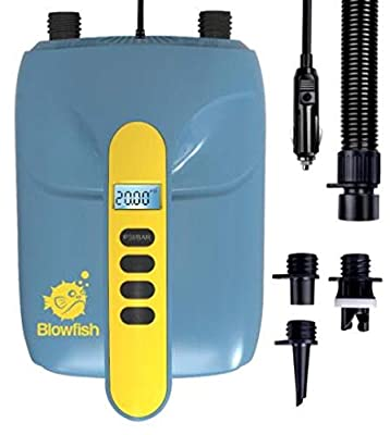 STARTSMART Blowfish Digital Electric Air Pump Compressor - 110W 12 Volt Quick Air Inflator/Deflator w/LCD, 0-20 PSI - for Inflatable SUP Stand Up Paddle Board/Boat, Water Sports Inflatables