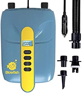 STARTSMART 12V SUP Electric Air Pump, 20PSI High Pressure Dual Stage Inflation Paddle Board Pump for Inflatable Stand Up P...
