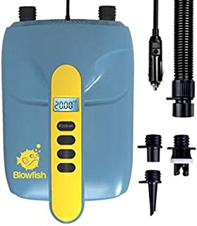 STARTSMART Digital Electric Air Pump Compressor - 110W 12 Volt Quick Air Inflator/Deflator w/LCD,  0-20 PSI - for Inflatable SUP Stand Up Paddle Board/Boat,  Water Sports Inflatables