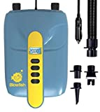 STARTSMART 12V SUP Electric Air Pump, 20PSI High Pressure Dual Stage Inflation Paddle Board Pump for Inflatable Stand Up Paddle Boards, Boats, Kayak, 12 Volt DC Car Connector