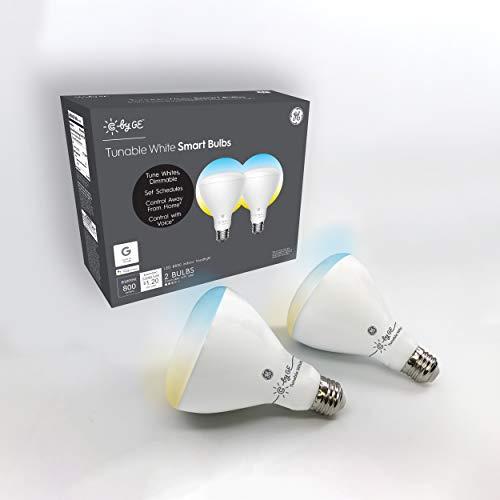 C by GE BR30 Smart Light Bulbs - Smart Flood Light Bulbs, Tunable White Light Bulbs, 2-Pack, Smart Light Bulb Works with Alexa and Google Home, Bluetooth Light Bulb, Cool and Warm White LED Light Bulb