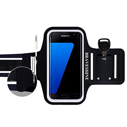 Sportarmband Handyhülle Universell für Samsung Galaxy S8, Schweißfest sportarmband Handy mit Schlüsselhalter,Kabelfach,Kartenhalter,für Samsung Galaxy S8/S7/S6/S6 Edge/S5/J5/J3/A5/Xcover 4