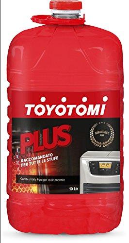 """Toyotomi Plus 10 Litri, Combustibile Universale di alta qualità categoria, """"Puro"""", adatto a tutte le stufe portatili a stoppino ed elettroniche"""