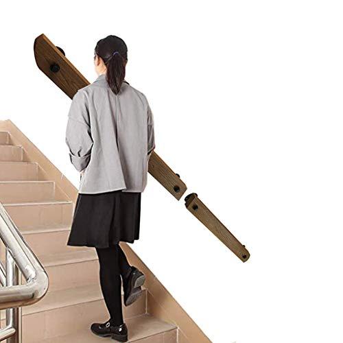 Kit Completo De Pasamanos, con Soporte De Pintura En Aerosol De Alta Temperatura Negro, Pasamanos Rectangular De Escalera De Madera De Pino | Barandilla De Escalera Moderna Antideslizante