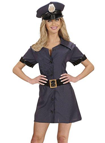 Widmann - Kostüm Polizistin, Kleid, Gürtel, Hut, Uniform, Polizei, sexy, Mottoparty, Karneval