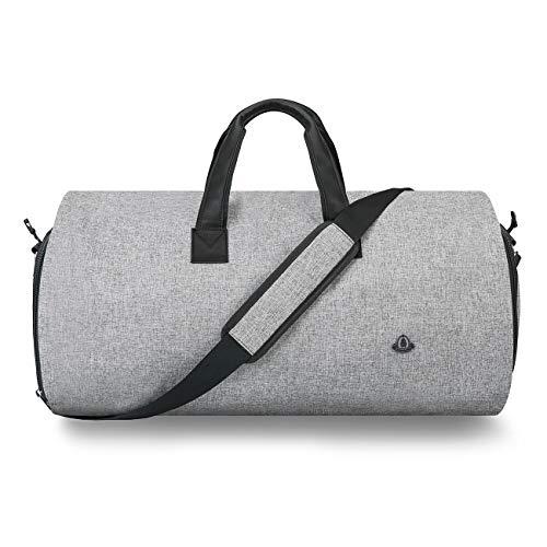 Bug Anzugtasche, Kleidersack Reisetasche Anzugsack 2 in 1 Garment Bag mit 15' Laptopfach, Schuhfach, und Verstellbarem Schultergurt - 45L hohe Kapazität - Schwarz