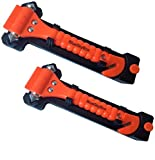 BlueSkyBos Value 2 Pack - Emergency Escape Tool Auto Car Window Glass Hammer Breaker and Seat Belt Cutter Escape 2-in-1 Tool