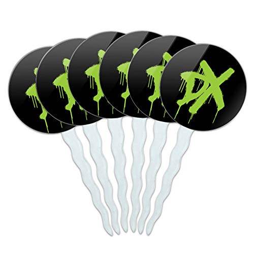 GRAPHICS & MORE WWE D-Generation X DX Cupcake Picks Toppers Decoration Set of 6