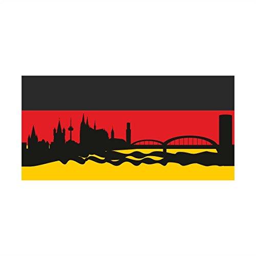 Wandtattoo Wandsticker Fussball Deutschland Meisterschaft Europameisterschaft EM Flagge Köln (70x34cm) Wandaufkleber Wandsticker Wanddeko Germany EM020