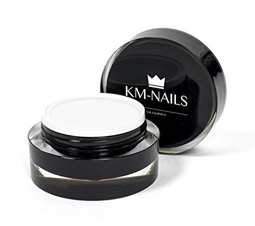 KM-Nails 15ml natural French White - Soft white - natur weiß für den natural look härtet unter LED und UV