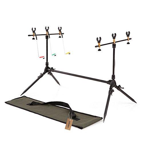 Lixada Adjustable Retractable Carp Fishing Rod Pod Stand Holder Fishing Pole Pod Stand Fishing...