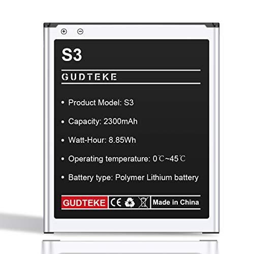 GUDTEKE Batería compatible con Galaxy S3 Equivalente al original EB-L1G6LLU | Batería de iones de litio de los modelos Galaxy S3 i9300 | Galaxy S3 LTE i9305 | Batería de repuesto para su smartphone