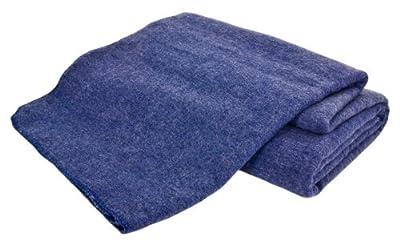 Creswick Australian Mills Hobart Machine Washable Blanket, King, Denim