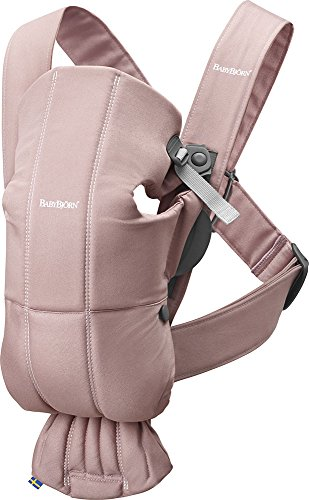 BABYBJÖRN Baby Carrier Mini, Cotton, Dusty Pink
