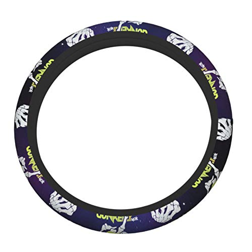 Paparatee Mac-Hine Gun Kelly A Lot of Mushrooms Car Steering Wheel Cover for Women & Girls & Men, Universal 15 Inches Car Accessories