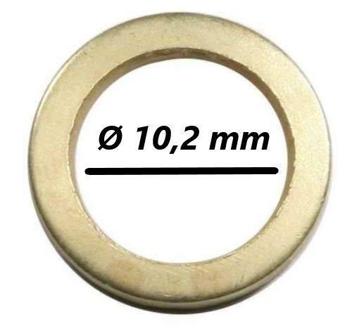 50 Fitschenringe - Außen Ø 15,8 mm/Innen Ø 10,2 mm