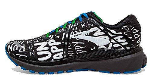 Brooks Mens Adrenaline GTS 20 Running Shoe - Black/White/Multi - D - 10