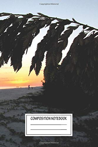Composition Notebook: Landscapes Beach Life Coastal Wide Ruled Note Book, Diary, Planner, Journal for Writing