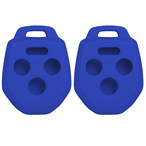 Keyless2Go New Silicone Cover Protective Case for Remote Key Fobs with FCC CWTWB1U811 - Blue - (2 Pack)
