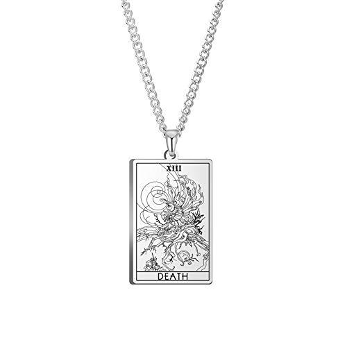 VASSAGO The Major Arcana Tarot Cards Vintage Amuleto Colgante de acero inoxidable Collares Joyas para hombre Mujer