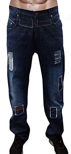 Newfacelook Men's Designer Jeans Casual Denim Mens Pant Fashion Trousers W32-L34