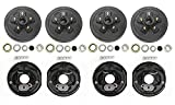 LIBRA 2 Sets Trailer 5 on 4.5' B.C. Hub Drum Kits with 10' x2-1/4 Electric Brakes for Tandem 3500 Lbs Axles