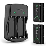 Smatree Controller Battery Compatible for Xbox Series X|S/Xbox One/Xbox One S/Xbox One X/Xbox One Elite Wireless Controller, 2 Pack Rechargeable Batteries with Charger