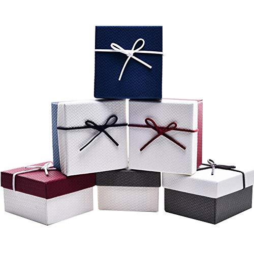 Xiton Rainbow Beauty Ranura 6pcs Individual Premium Caja De Reloj De Pulsera Caja De La Pantalla Portátil Organizador Pequeño Cajas De Regalo De Usos Múltiples Caja De Regalo