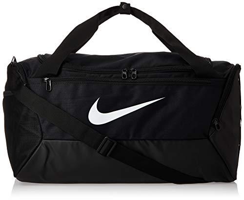 Nike Unisex Brasilia Small Sporttasche, Black/Black/White, 51 x 28 x 28 cm, 41 L